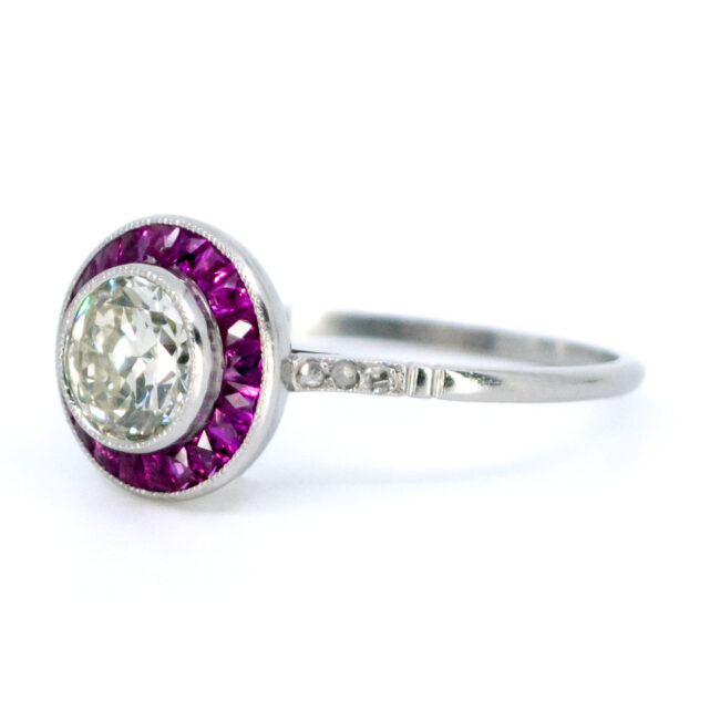 Diamond, Ruby, Platinum Ring 1733GM Image2