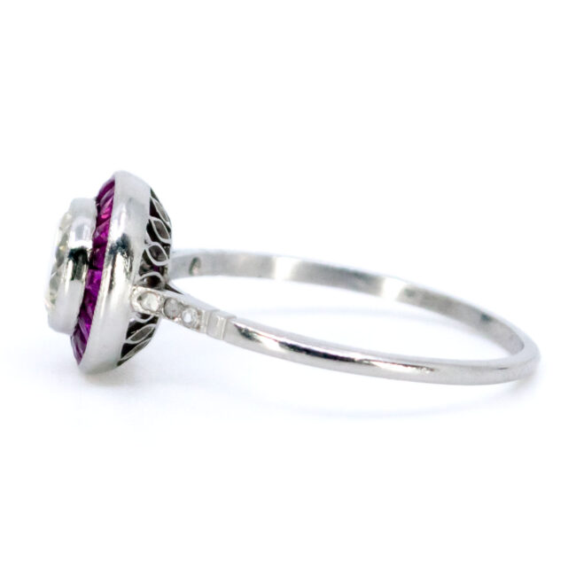 Diamond, Ruby, Platinum Ring 1733GM Image3