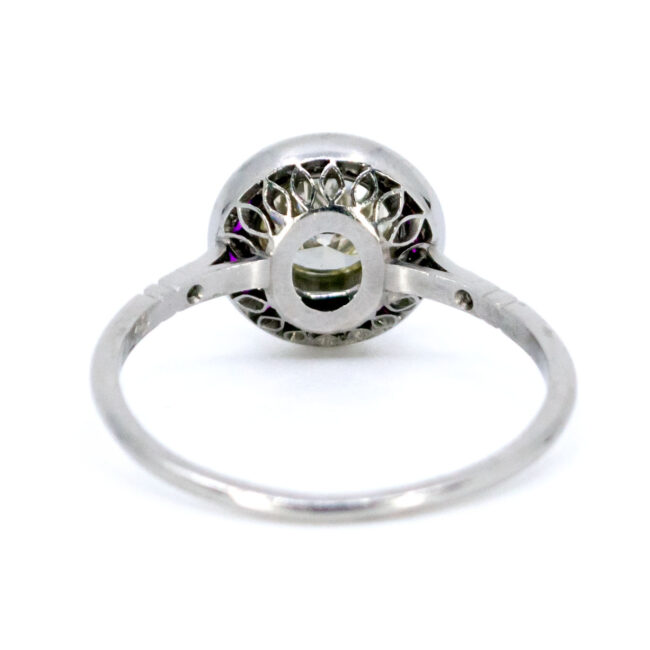 Diamond, Ruby, Platinum Ring 1733GM Image4
