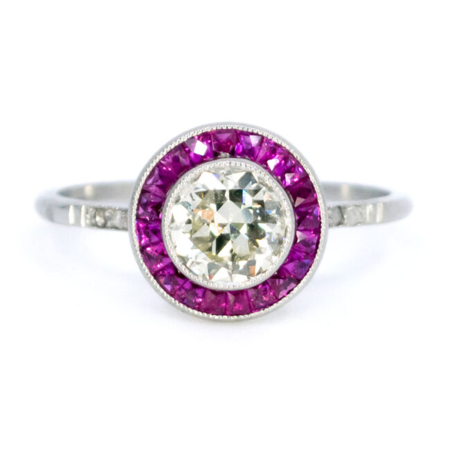 Diamond, Ruby, Platinum Ring 1733GM Image1