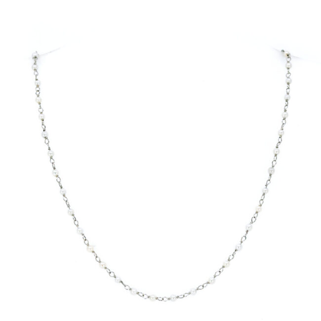 Pearl, Platinum Necklace 6143EE Image2