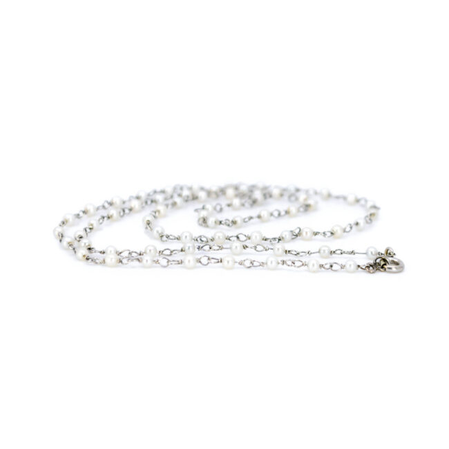 Pearl, Platinum Necklace 6143EE Image1