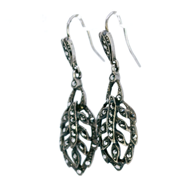 Marcasite (Pyrite), Silver Earrings 0003AE Image2