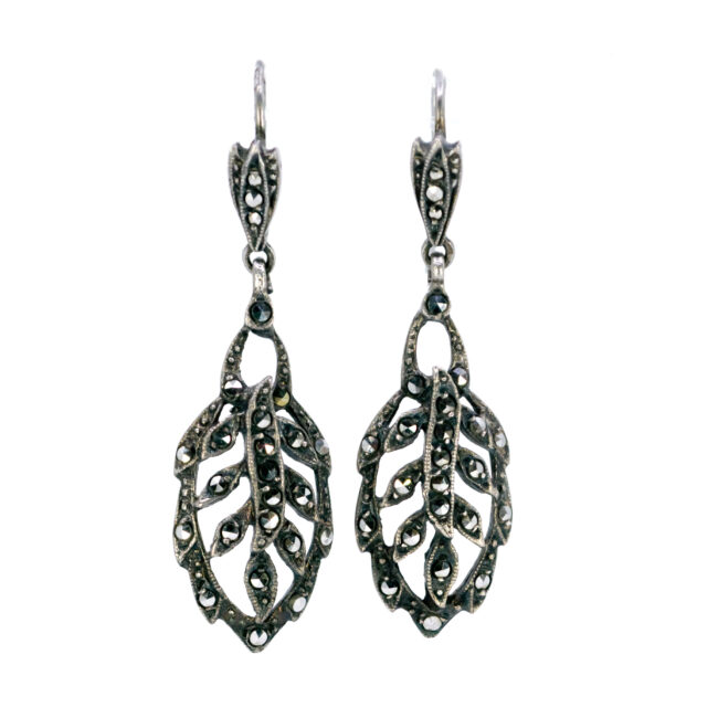 Marcasite (Pyrite), Silver Earrings 0003AE Image1