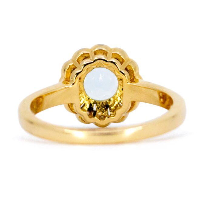 Aquamarine, Diamond, Gold Ring 11007-0181 Image4