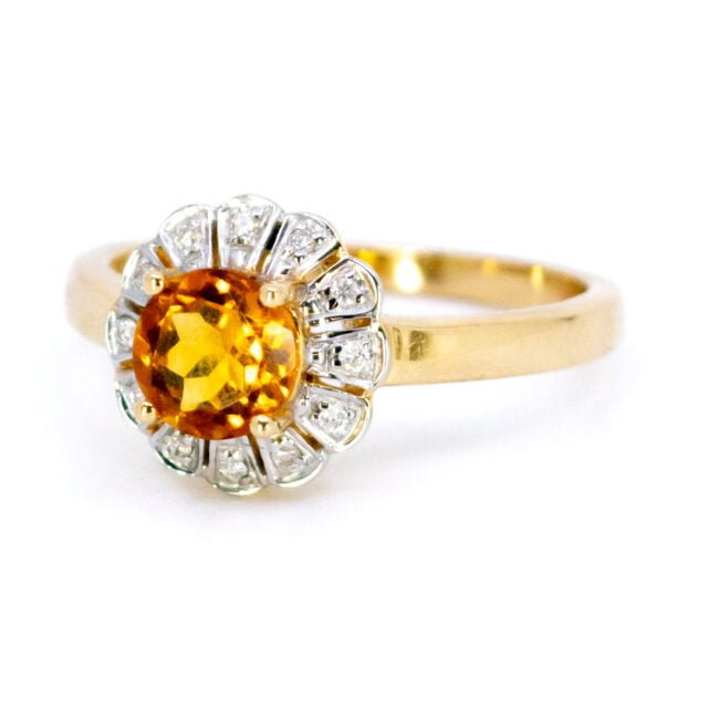 Citrine, Diamond, Gold Ring 11832-0210 Image2