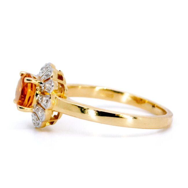 Citrine, Diamond, Gold Ring 11832-0210 Image3