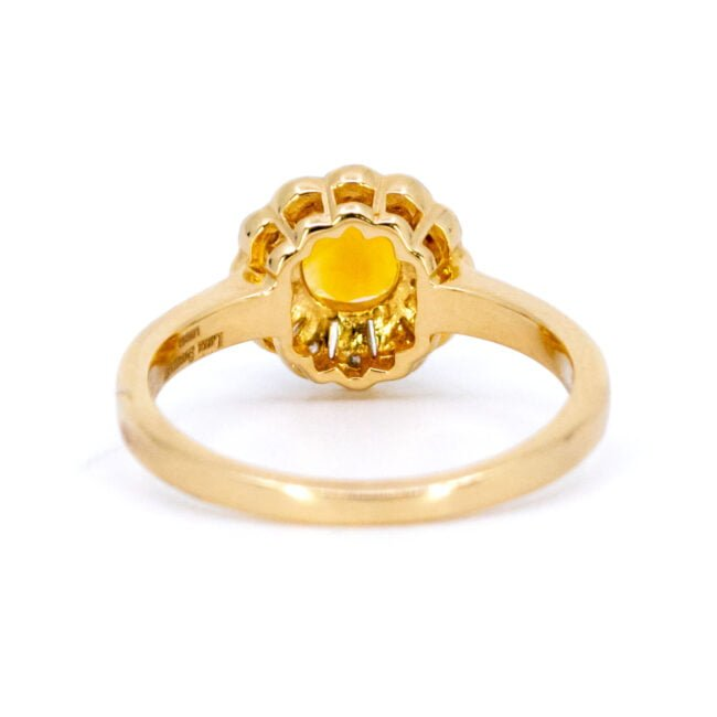 Citrine, Diamond, Gold Ring 11832-0210 Image4