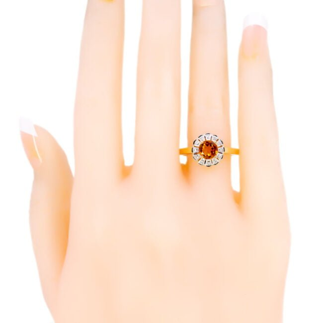 Citrine, Diamond, Gold Ring 11832-0210 Image5