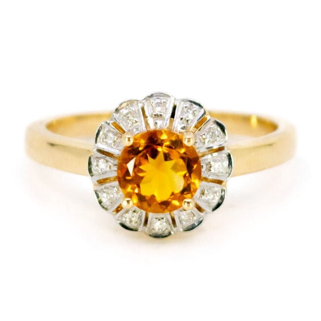 Citrine, Diamond, Gold Ring 11832-0210 Image1