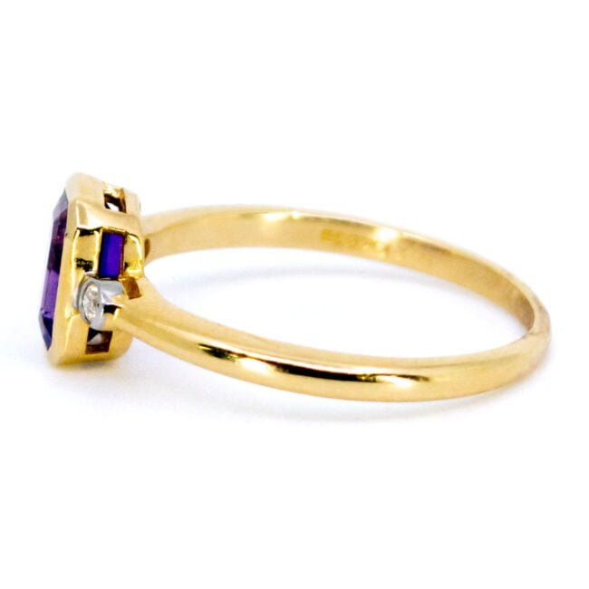 Amethyst, Diamond, Gold Ring 11850-0228 Image3
