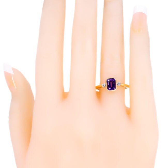 Amethyst, Diamond, Gold Ring 11850-0228 Image5