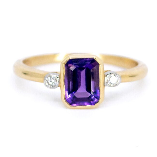 Amethyst, Diamond, Gold Ring 11850-0228 Image1